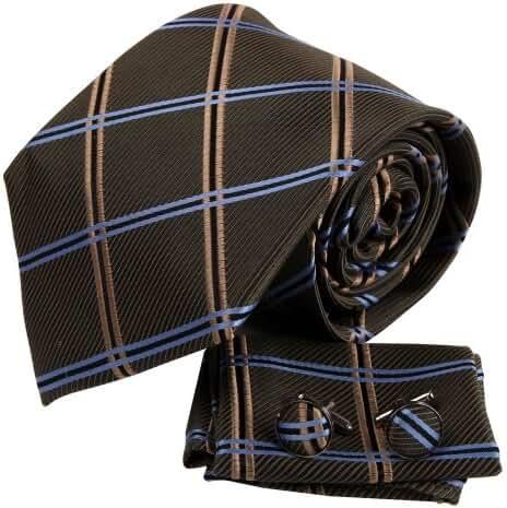 YAC2C01 Elegant Gift Idea Various of Colors Mens Silk Pattern Tie 3PT By Y&G