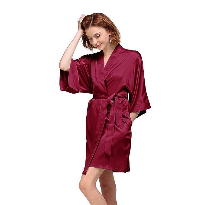 Mini Balabala Women Robe Soft Kimono Robes Cotton Bathrobe Sleepwear Loungewear Short