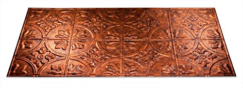 Fasade Easy Installation Traditional 2 Moonstone Copper Glue Up Ceiling Tile/Ceiling Panel (2' x 4' Panel)