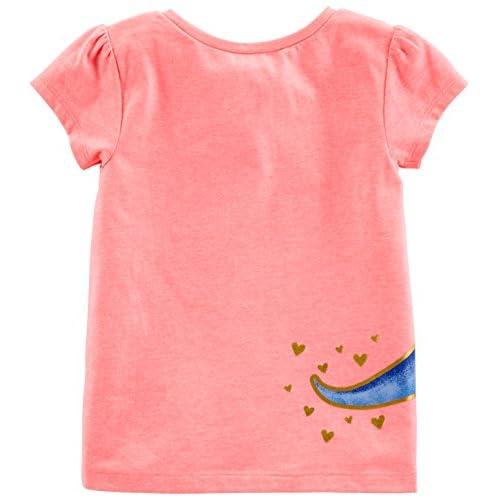 Simple Joys by Carters Ni/ñas rosa Pink Dino White Heart 2T Gray Camiseta