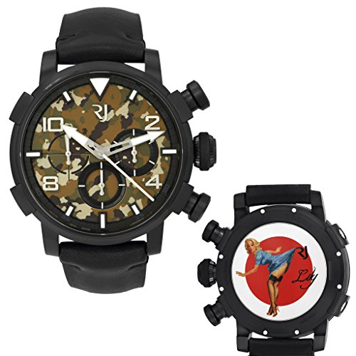 Romain Jerome Pinup DNA WWII Lily Blue Chrono Auto Men Watch RJ.P.CH.002.01