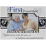 Studio1workshop Personalized Baby Picture Frame, First Grandchild Frame, Grandparents Picture Frame, Grandson Frame, Grandparents Frame, White-Boy