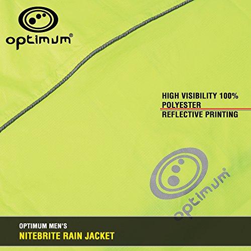 hombre Chaqueta Nitebrite verde impermeable Optimum para nvw80WIBnq