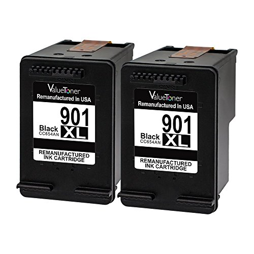 Valuetoner Remanufactured Ink Cartridge Replacement for HP 901XL 901 XL (2 Black) CZ075FN CC654AN High Yield for HP Officejet 4500, J4524, J4540, J4550, J4580, J4624, J4680 Inkjet Printers Officejet J4680 Inkjet Printer