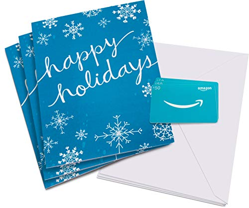 Amazon.com $50 Gift Card in a Holiday Snowflakes Greeting Card - Pack of 3