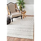 nuLOOM Geometric Moroccan Beads Grey Rug (8  Square)