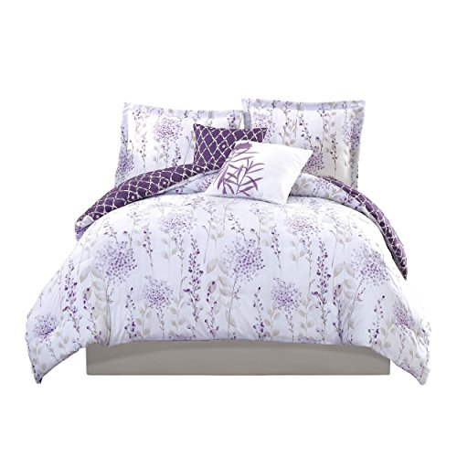 5-piece-girls-purple-white-lavender-floral-theme-comforter-king-set-beautiful-all-over-fresh-meadow-