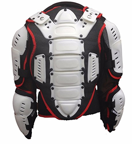 XTRM Kids Motocross Body Armour Off Road Junior Childrens Chest Spine Protective Mx Gear Full Deflector Jacket in Camo Orange