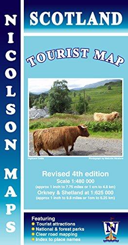 Scotland Tourist Map 1:480K Nicolson 2015***