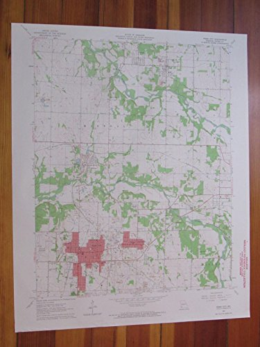 Webb City Missouri 1964 Original Vintage USGS Topo - Creek Center City Map