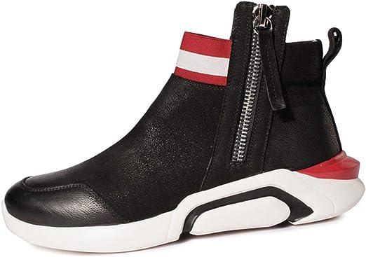 GYPING Zapatillas Running de Primavera para Hombre Zapatos Deportivos de amortiguación al Aire Libre Zapatillas de Piel de Vaca Trabajo Urbano Caminata Senderismo,Red A- 40/UK 7: Amazon.es: Hogar