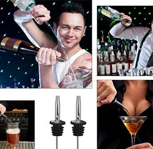 2x Milopon Flaschenausgie/ßer Weinausgie/ßer Ausgie/ßer Edelstahl Liquor Ausgie/ßer mit konischem f/ür Schnaps Partys ideal f/ür Cocktails Shots und Bars /Öl und Wein Portionierer