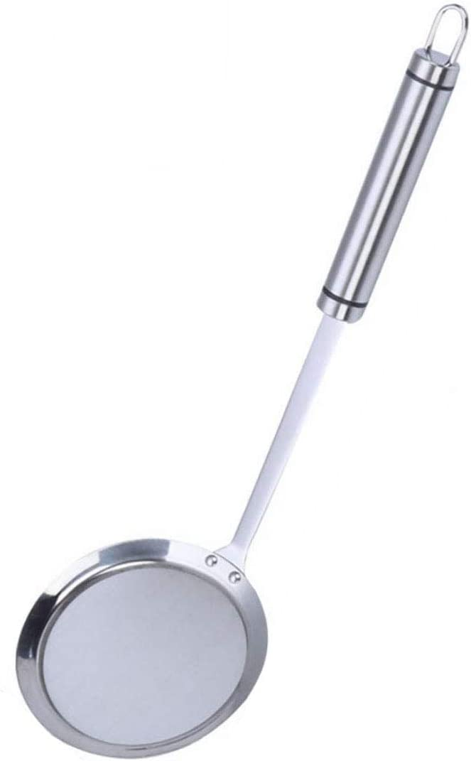 Strainers Fine Mesh, SUS 304 Premium Stainless Steel Fine Mesh Food Strainer Kitchen Colander Sieve Sifter Hand-held Oil Spoon Seives with Good Grip Handle, Small Medium Large Size