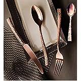 Royal Scarlett 12 Piece Copper Cutlery Set