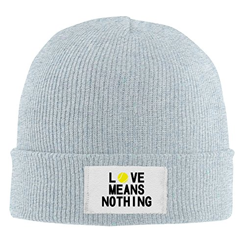 Love Means Nothing Tennis Player Acrylic Knit Beanie Hat Ash