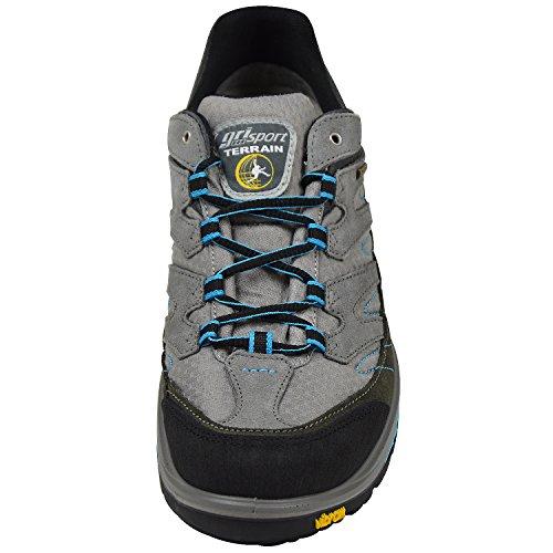Grisport 12503s4g Sneaker Da Uomo Per Outdoor In Tessuto Grigi, Grigio / Turchese