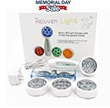 Lift Care Rejuven Light LED Light Therapy with 4 Interchangeable Heads Anti-Aging Device, Skin Rejuvenation, Lightens Dark Spots, Promotes Collagen and Reduce Wrinkles and Fine Lines