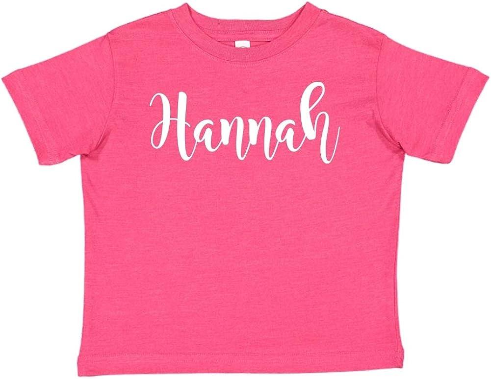 Mashed Clothing Hannah Personalized Name Toddler//Kids Short Sleeve T-Shirt
