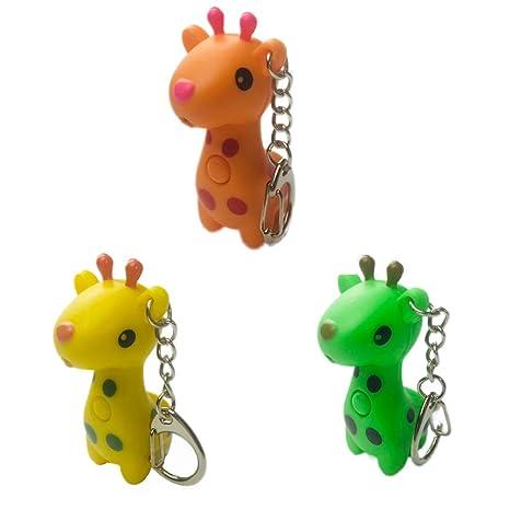 Amazon.com: LED de jirafa llavero con sonido linterna Niño ...