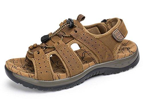 2017 sandalias de verano sandalias de los hombres respirables Baotou zapatillas de cuero grandes yardas 2