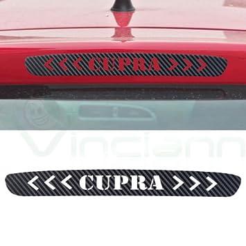 Aufkleber Sticker Faser Carbon Dritte Stop Bremslicht
