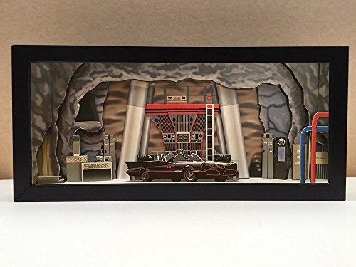 Batman Batcave interior shadowbox diorama
