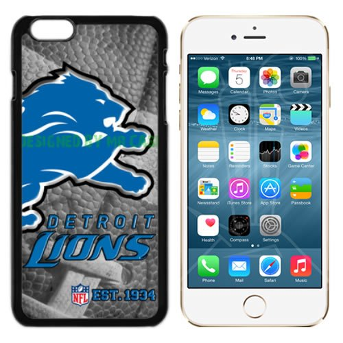 Lions Detroit Football New Black Apple iPhone 6S, 6 Case By Mr Case