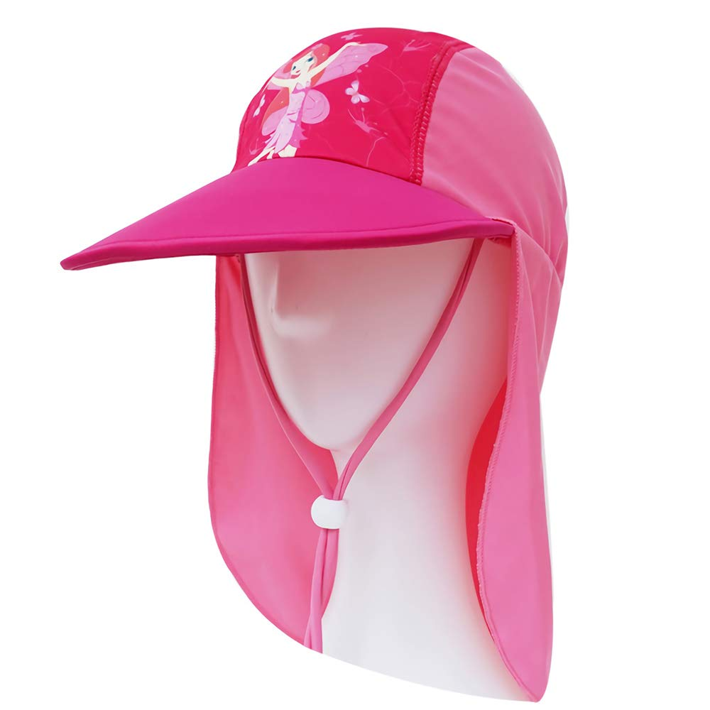 Girls Pink /& Purple Sun Protection Legionnaire Cap UPF 50+