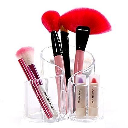 98de8fb88b90 UNIQUE ICON 3 Part Transparent Clear Acrylic Cosmetic Makeup ...