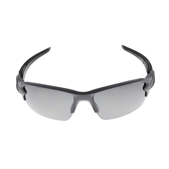 3ecd9130730a3 Amazon.com  Oakley Men s MPH Flak 2.0 Polarized Matte Heather Grey Black  One Size  Sports   Outdoors