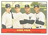 2010 Topps Heritage Baseball Card # 411 Derek Jeter / Pettitte / Posada / Rivera (Core Four ) New York Yankees - Mint Condition - MLB Trading Card Shipped In Protective ScrewDown Display Case!