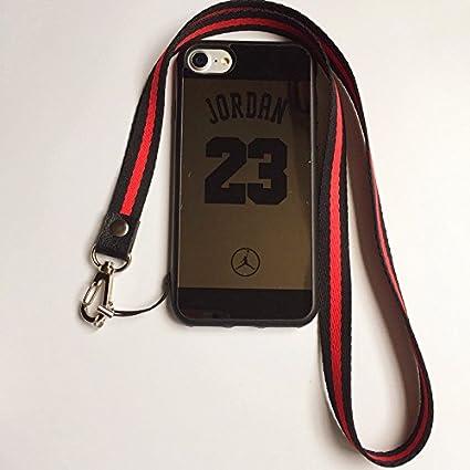 Amazon.com: iPhone 7 y 8 Jordan 23 funda, espejo reflectante ...