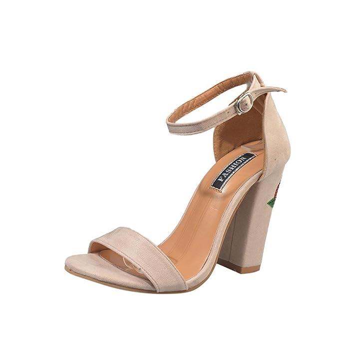 ac1b0baf3417 Amazon.com  DIGOOD Sandals with High Heels for Women