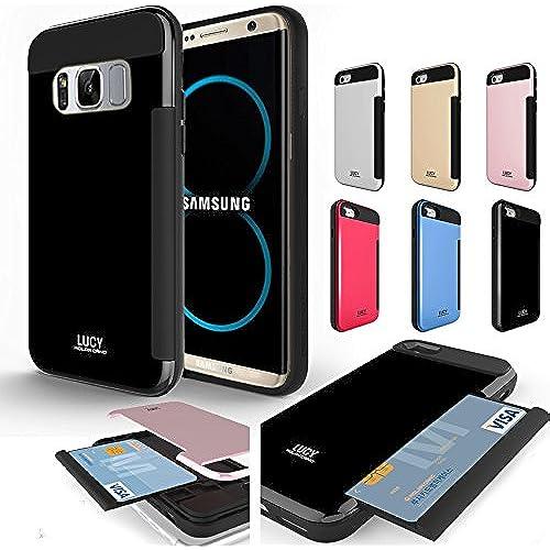 For Galaxy S8 Case , Slim Slide Drawer Snap secret card holder shock protective Dual Case Cover Rose Gold Sales