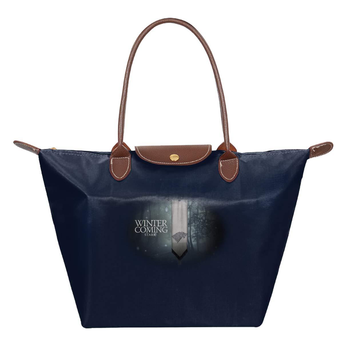 Mother Of Dragons GOT TV Game Of Thrones Winter Is Coming Stark Waterproof Leather Folded Messenger Nylon Bag Travel Tote Hopping Folding School Handbags