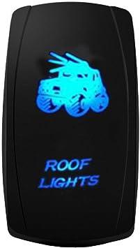 E Support 12v 24v Auto Kfz Licht Blau Led Lichtleiste Beleuchtet Wippenschalter Kippschalter Auto Armaturenbrett Schalter Roof Light 1 Auto