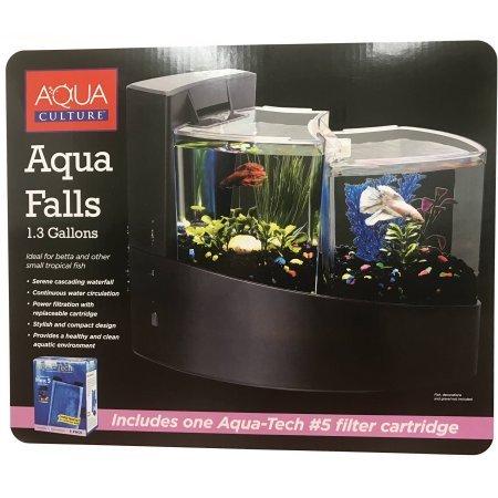 aqua culture aqua falls betta fish aquarium kit 1 3 gallon. Black Bedroom Furniture Sets. Home Design Ideas