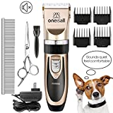 oneisall Dog Shaver Cllippers Low Noise Rechargeable Cordless Electric Queit Hair Clippers Set Dog Cat