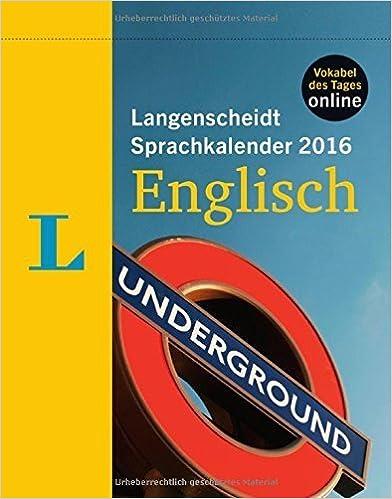 Langenscheidt Sprachkalender 2016 Englisch Abreißkalender