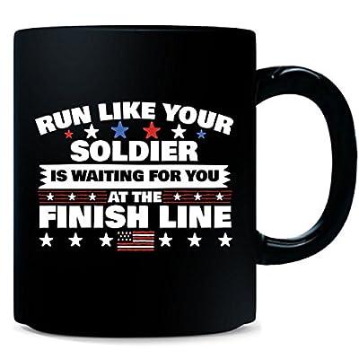 Military Spouse Wife Runner Motivational Running Gift Idea - Mug