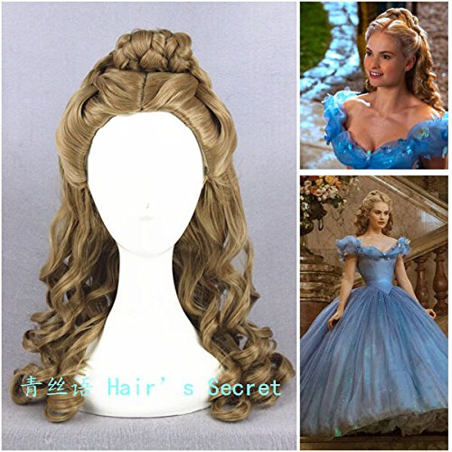 women girls female version of Cinderella wig court dish made drama Cinderella wig scroll to send women girls female hairnet ()