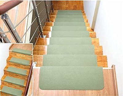 Cuteshower Non Slip Carpet Stair Treads, Anti-Skid Stairs Rug, Premium Pet Friendly Tape and Floor Step Mats, Cuttable