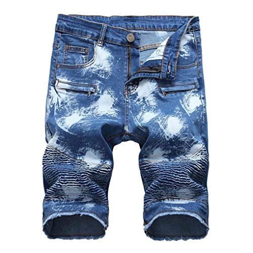 Rte Jeans 30 34 40 Vestibilità 32 Fori Sulle 36 Ginocchia Cher Blau 42 Uomini 28 Strappato Zipper 38 Motociclista Skinny 6t7T4wqY