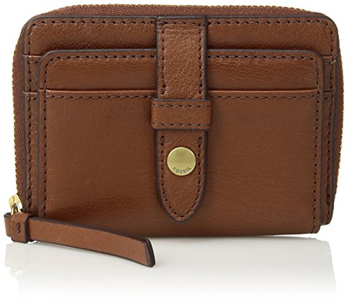 Fossil Ladies Brown Leather - Fossil Fiona Zip Coin Purse, Brown