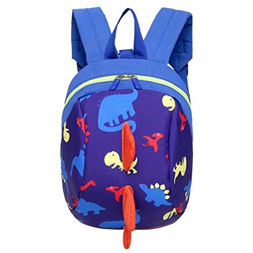 LUOEM Mochila bolso de escuela anti-perdida con bolso cartera bolso de mano para niños y niñas (azul)