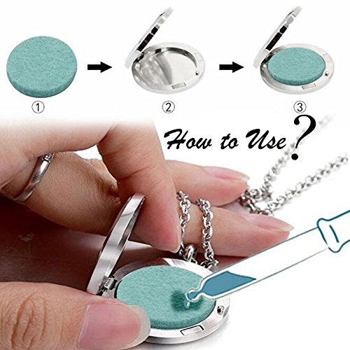 CliPons Women Girls Aromatherapy Essential Oil Diffuser Necklace Hollow Flower Locket Pendant Necklaces