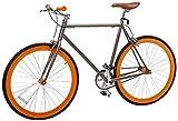 Vilano Rampage Fixed Gear Fixie Single Speed bicicleta de ruta, Champagne/Orange, Large/58cm