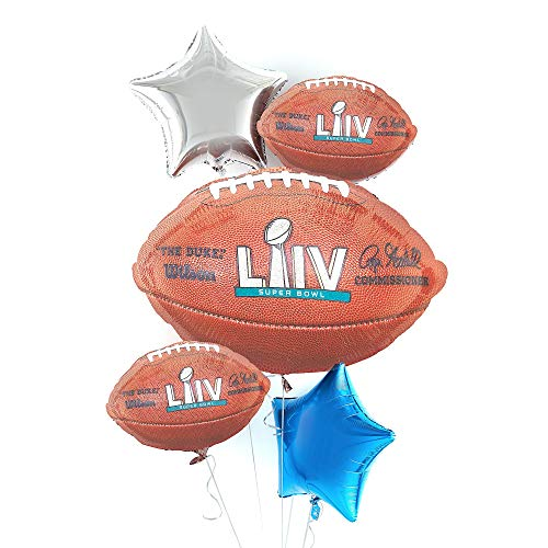 Party City Super Bowl Deluxe Balloon Bouquet Supplies, Include a Giant Football Balloon, Football Balloons, and a Star