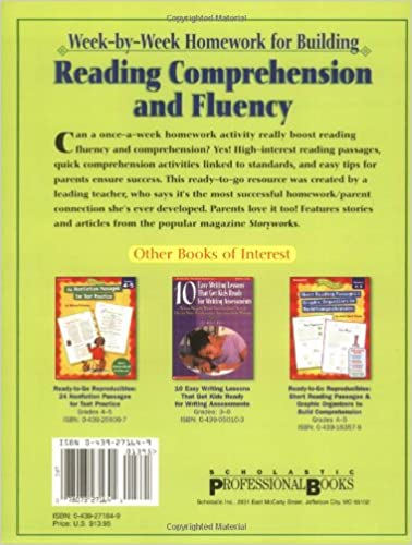 Amazon.com: Week-by-Week Homework for Building Reading ...