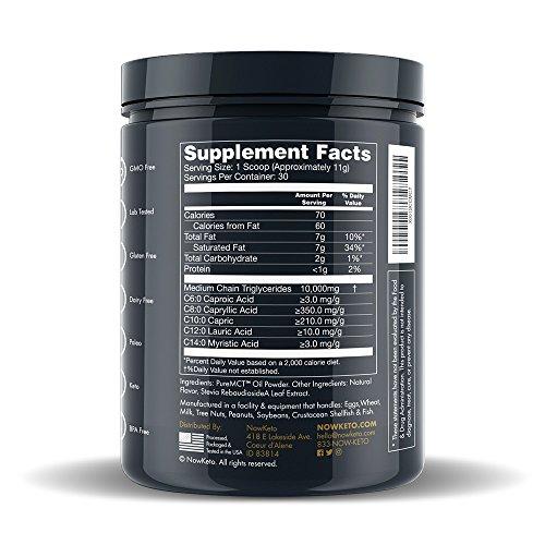 NOWKETO® KetoMCT™ from   Carb Medium Chain Ketogenic Boosts Ketones Diet. Great Creamer.